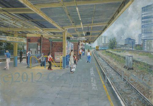 railway station art - Google Search