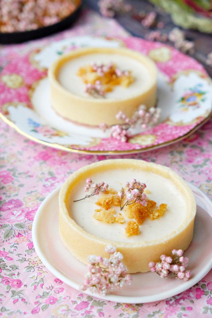 Vanilla Bean Panna Cotta Tart.