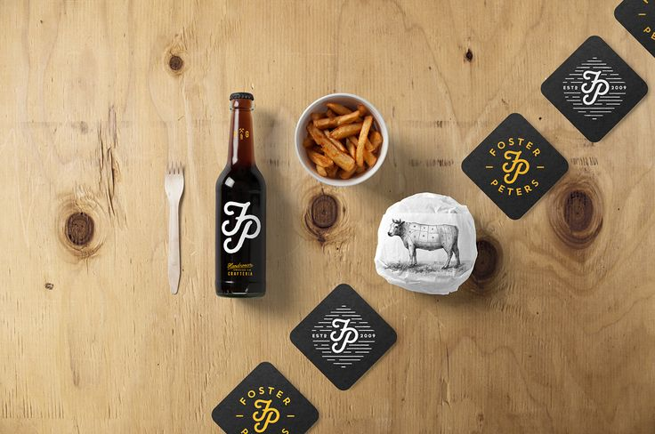 Burger Bar Stationery Mockup on Behance