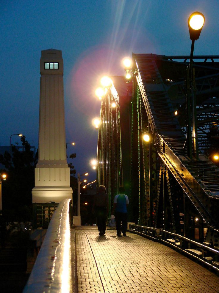 A night on Memorial Bridge, Bangkok