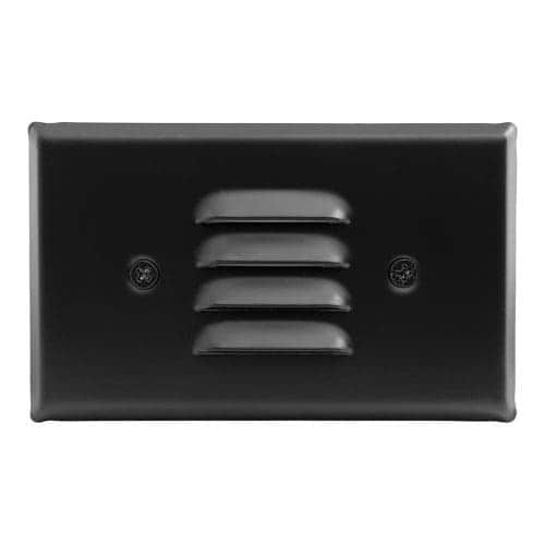 Elco ELST75 12V LED Horizontal Mini Step Light with Louvered Faceplate (Nickel) (Steel)