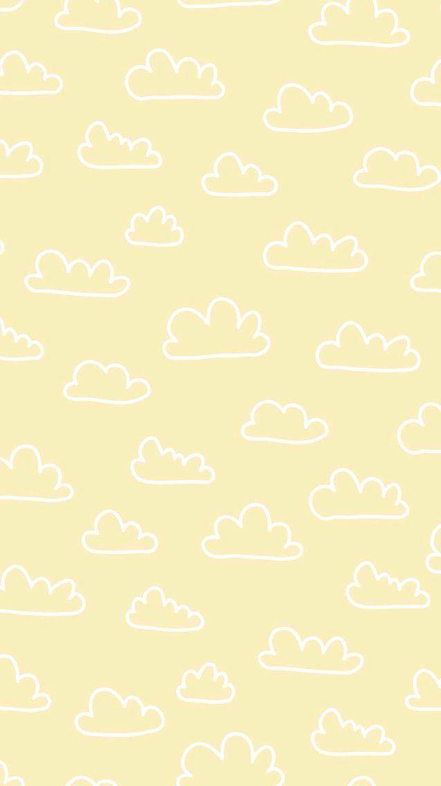 Print, Muster, Design, Wolken, Wiederholung, Kinder, Zeichnen, Gelb, Wrap