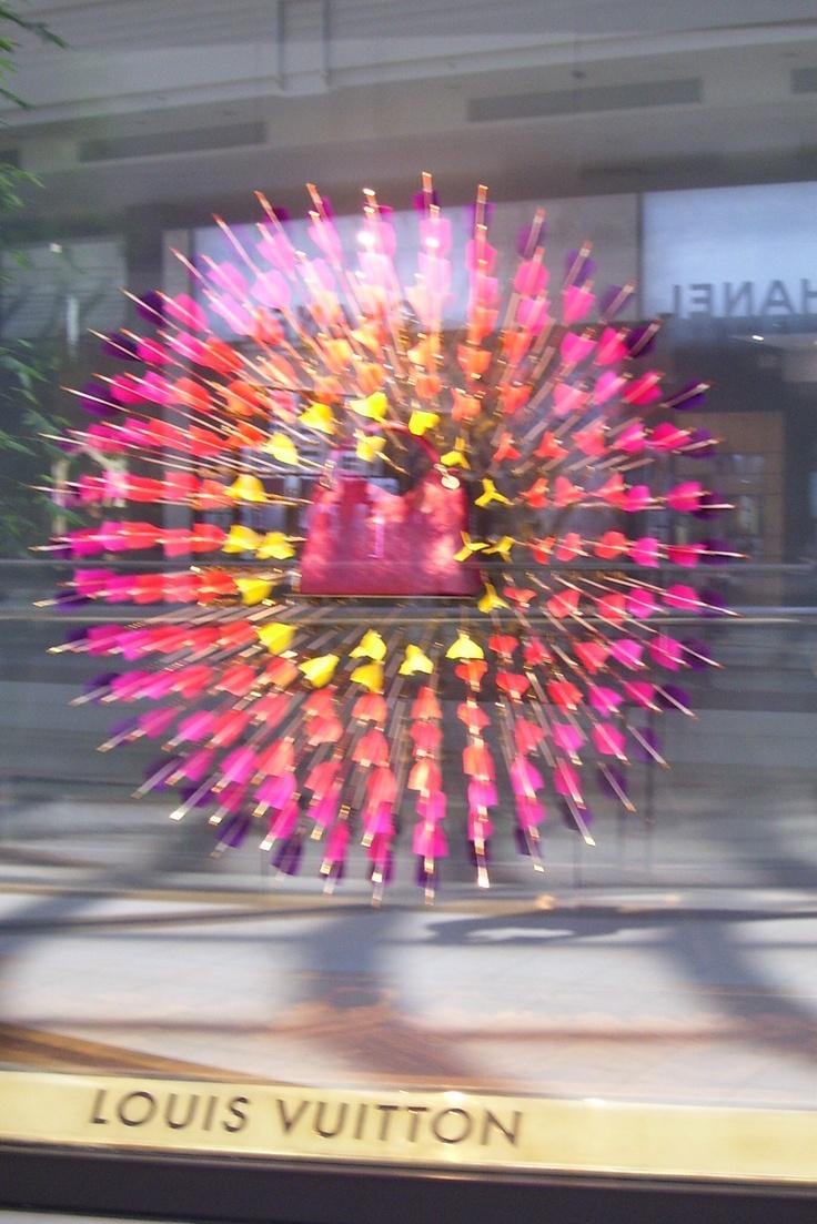 The Louis Vuitton store window display at Chadstone Shopping Centre, Melbourne, Australia. Photo by Dana Bonn