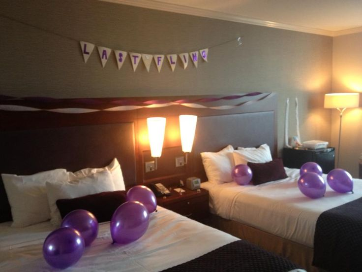 Bachelorette party hotel decorations bachelorette party for Hotel room decor for birthday