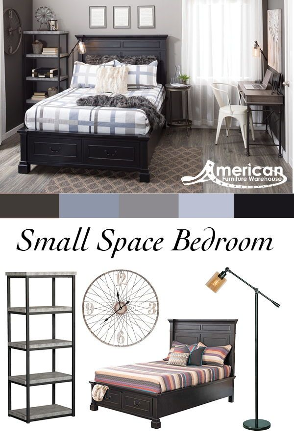 Learn How American Furniture Warehouse Put Together This Small Bedroom Look With Furniture And Decor Small Space Bedroom Home Decor Bedroom Furniture Warehouse