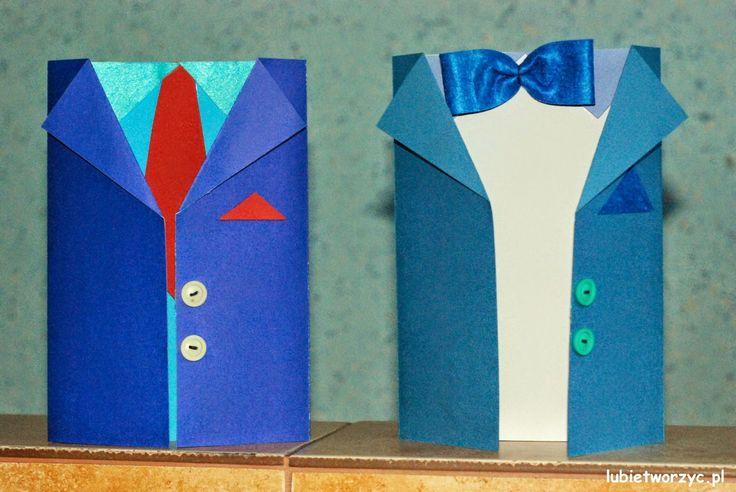 Garnitur - kartka z okazji Dnia Taty   #lubietworzyc #DIY #handmade #howto #preschool #kindergarten #instruction #instrukcja #jakzrobic #krokpokroku #przedszkole #dekoracje #decorations #father #father'sday #garnitur #kartkaokolicznosciowa #card #fathersdaycard #suit #suitcard dzientaty #dzienojca