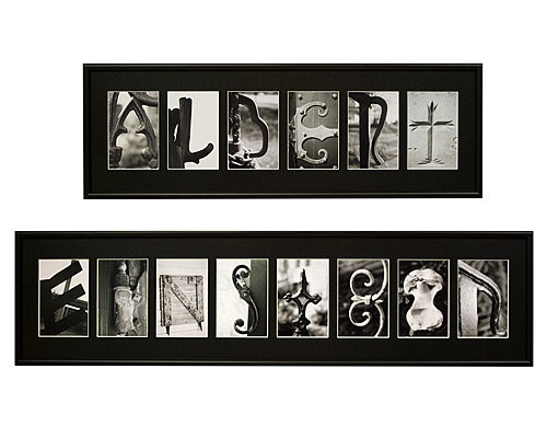 Personalized Wall Decor Letters : Personalized photo wall art unique customizable home