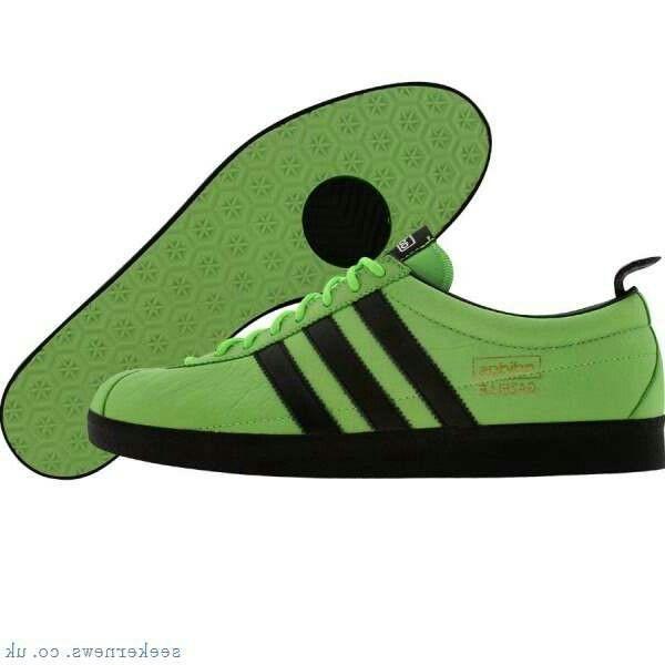 A rare pair Gazelle \u0027Vintage\u0027 finished in Macaw Green / BLACK / Black sole  � Adidas SneakersCanvas ...