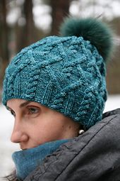 Agathis is a unisex hat worked in the round from the bottom up.