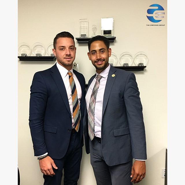 Krystoff And Danilo Here With Your Fridaymotivation Make It Happen Thecarvonisgroup Business Fashion Professional Friday Motivation Suit Fashion