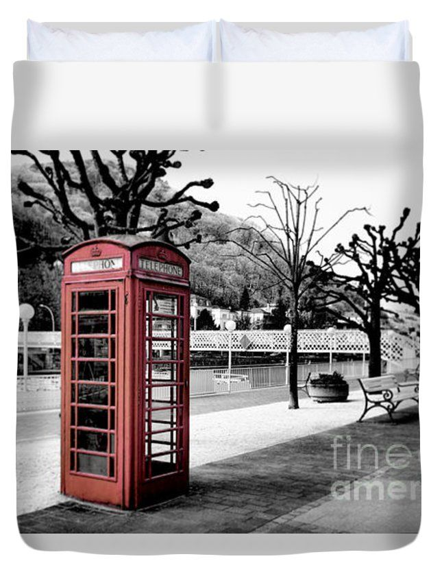 Fancy Alte Englische Telefonzelle In Colorkey Old English Phone Booth In Colorkey Duvet Cover for Sale by Tanja Riedel
