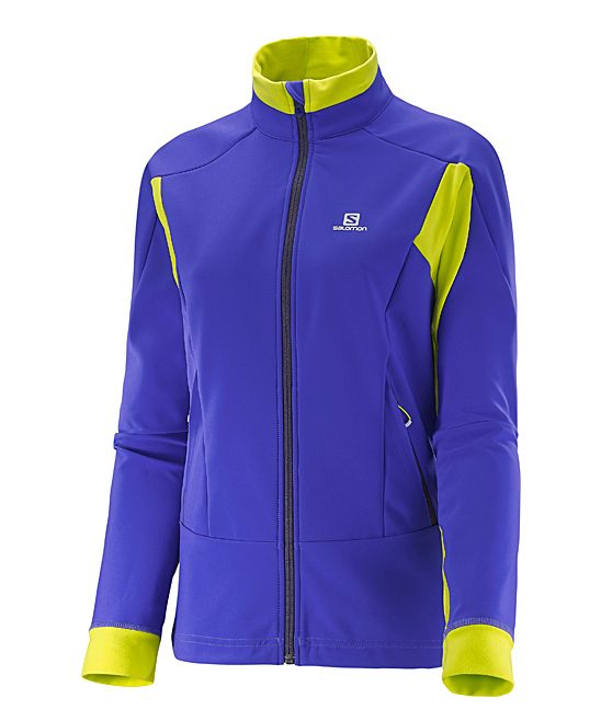 Phlox Violet & Yuzu Yellow Momentum Softshell Jacket - Women