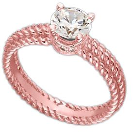 5. Blush Diamond Ring  Price: $3,149.00 at macys.comTo me, some of the prettiest unique diamond rings use rose gold. I don't think I've ever seen a prettier band, …