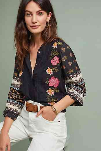 eb38981a79560 New Winter Clothing for Women. Winona Floral Embroidered Blouse