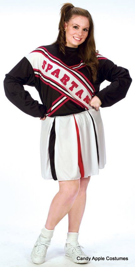 Plus Size Adult Spartan Cheerleader Arianna Costume - Candy Apple Costumes