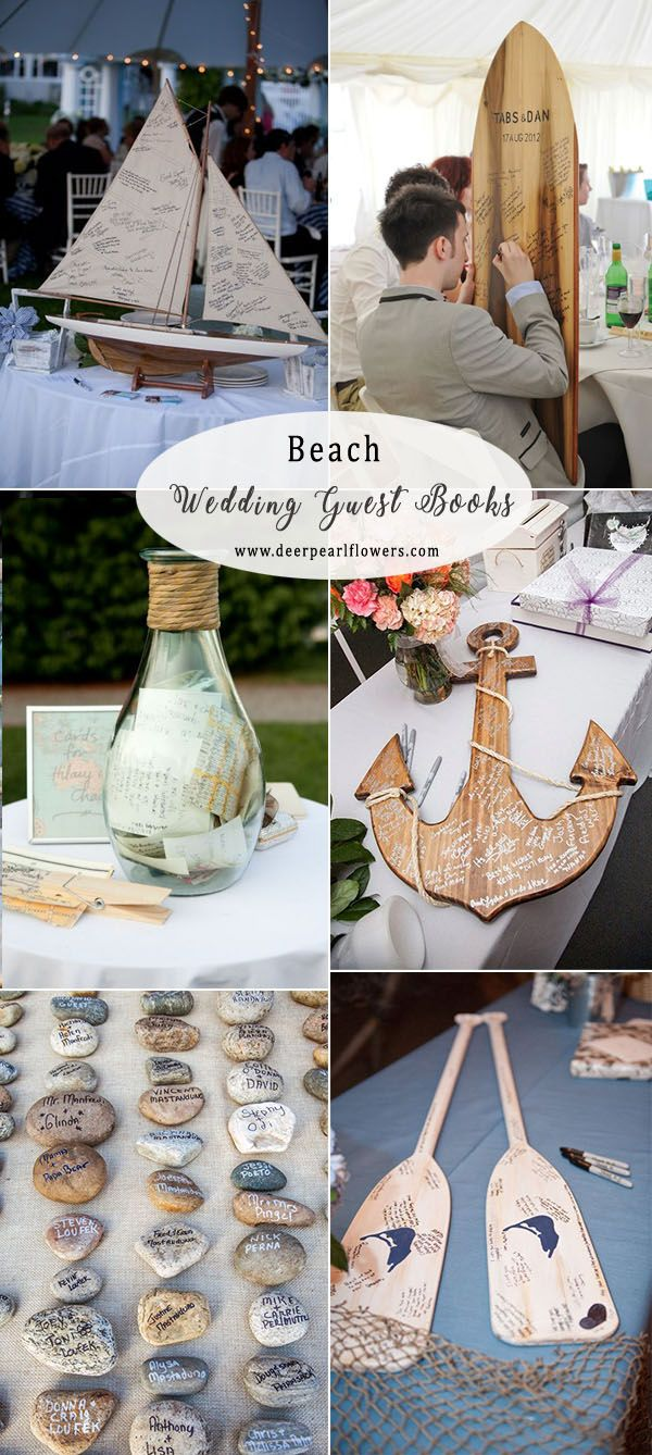 top 16 creative & fun wedding guest book ideas | nautical