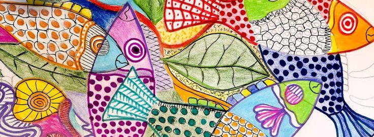 Pesci colorati - Henri olama #disegno
