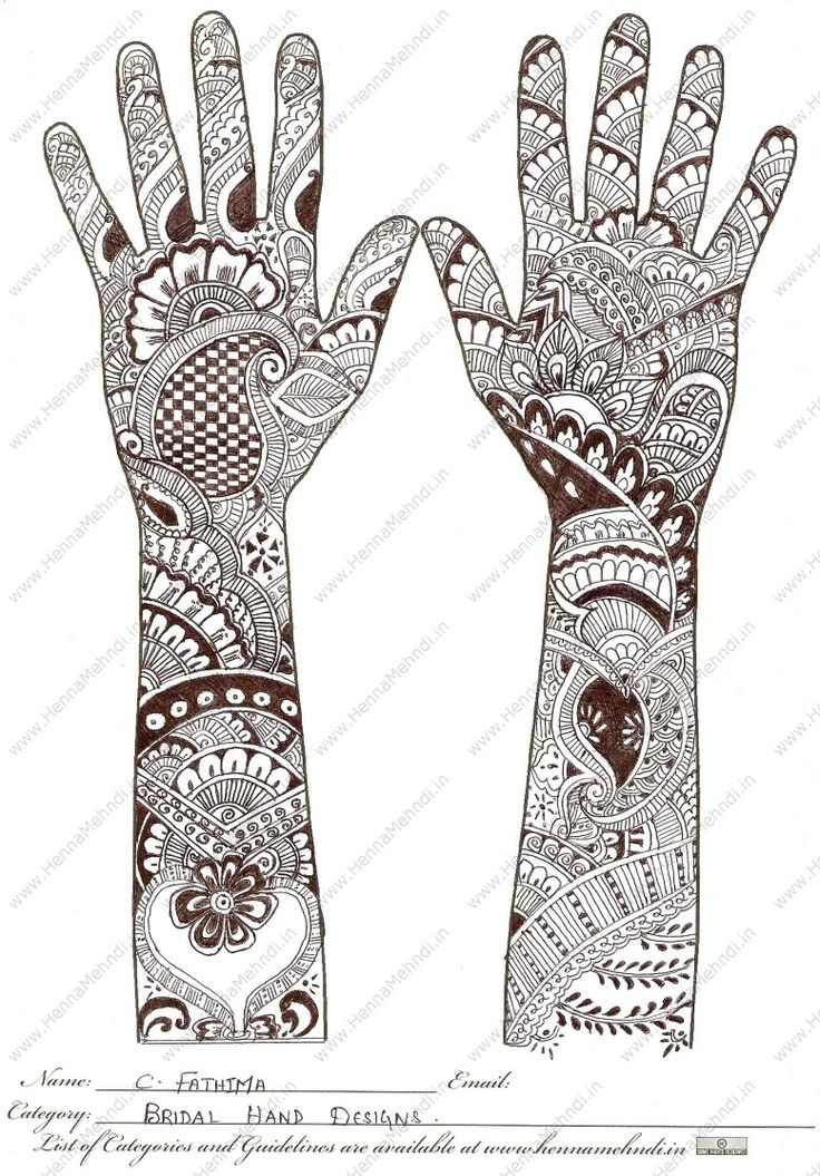 Mehndi Patterns History : Bridal hand designs c fathima mehndi style