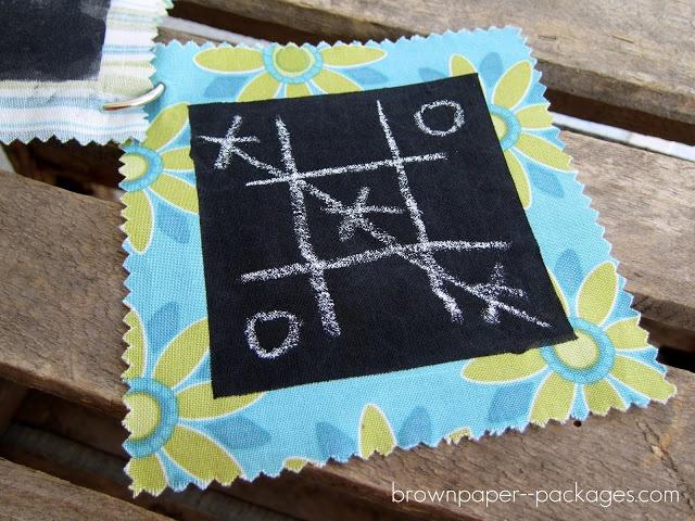 quiet books /fabric chalkboard