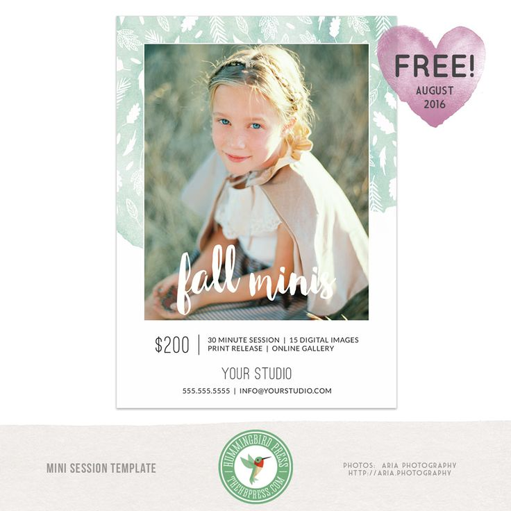 Templates free mini sessions and autumn on pinterest for Free mini session templates