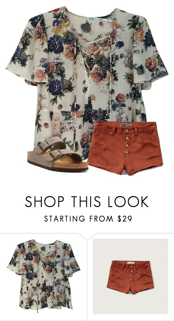 """missing Gulf Shores rn :/"" by arieannahicks on Polyvore featuring Urban Outfitters, Abercrombie & Fitch and Birkenstock"