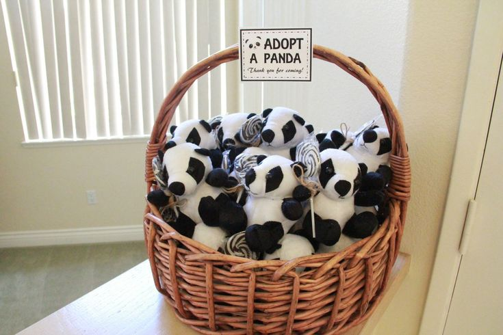 """Adopt a Panda"" Station as party favors"