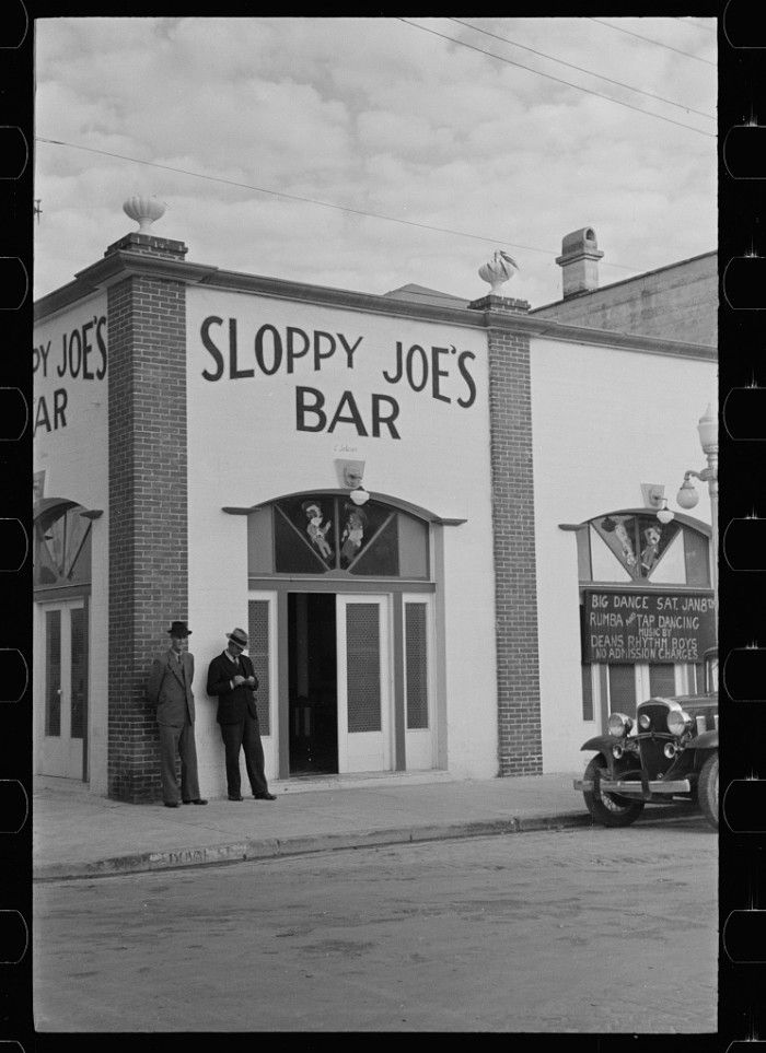 #Sloppy_Joe's Bar in 1938 - photo by Arthur Rothstein, Library of Congress