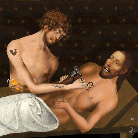 El extraño tatuaje en el estómago del hijo de Michael Douglas La cara de su padre y abuelo?