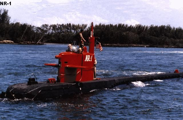 U.S. Navy NR-1 Nuclear Submarine launched 1969, Groton, Conn. The 140-foot-long submarine was powered by a custom-built miniature nuclear reactor and could dive to 3,000 feet. The crew of about 10 men could stay at sea for as long as a month, but they had only frozen TV dinners to eat, bathed once a week with a bucket of water and burned chlorate candles to produce oxygen.