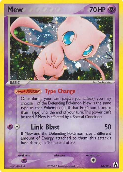 Mew Card Pokemon Cards And Collectables Jungle Non