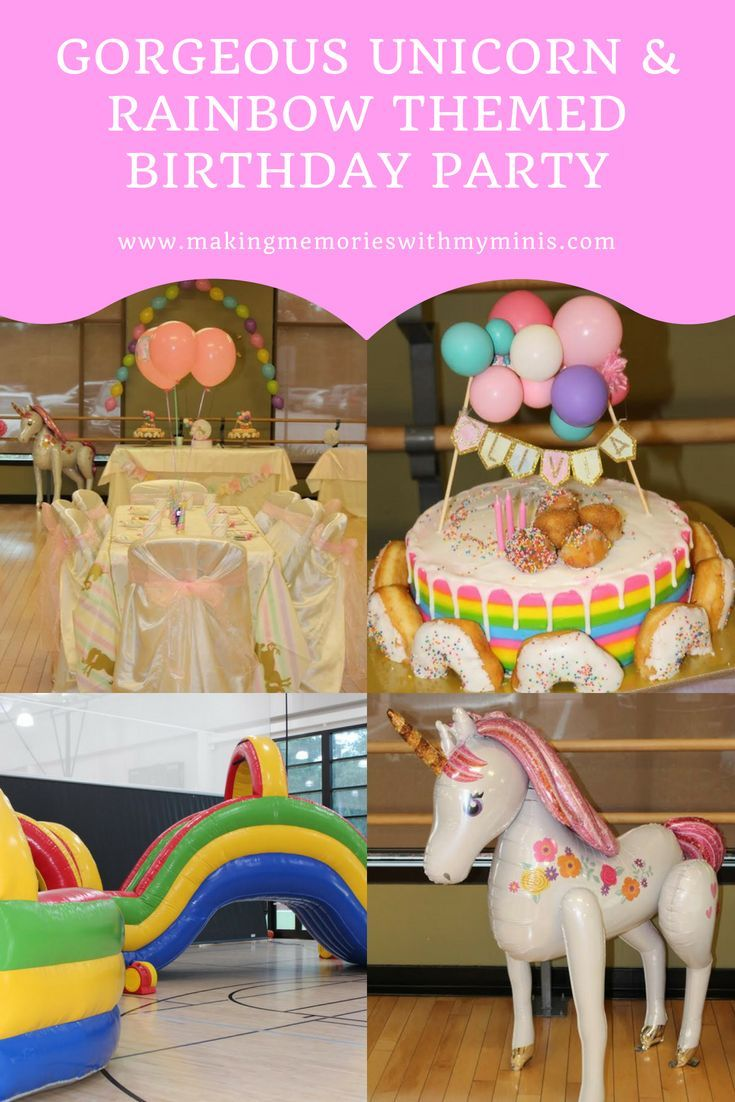 Super Cute Affordable Party Ideas And Decorations For A 3 Year Old Birthday Unicornbirthday Rainbowbirthday