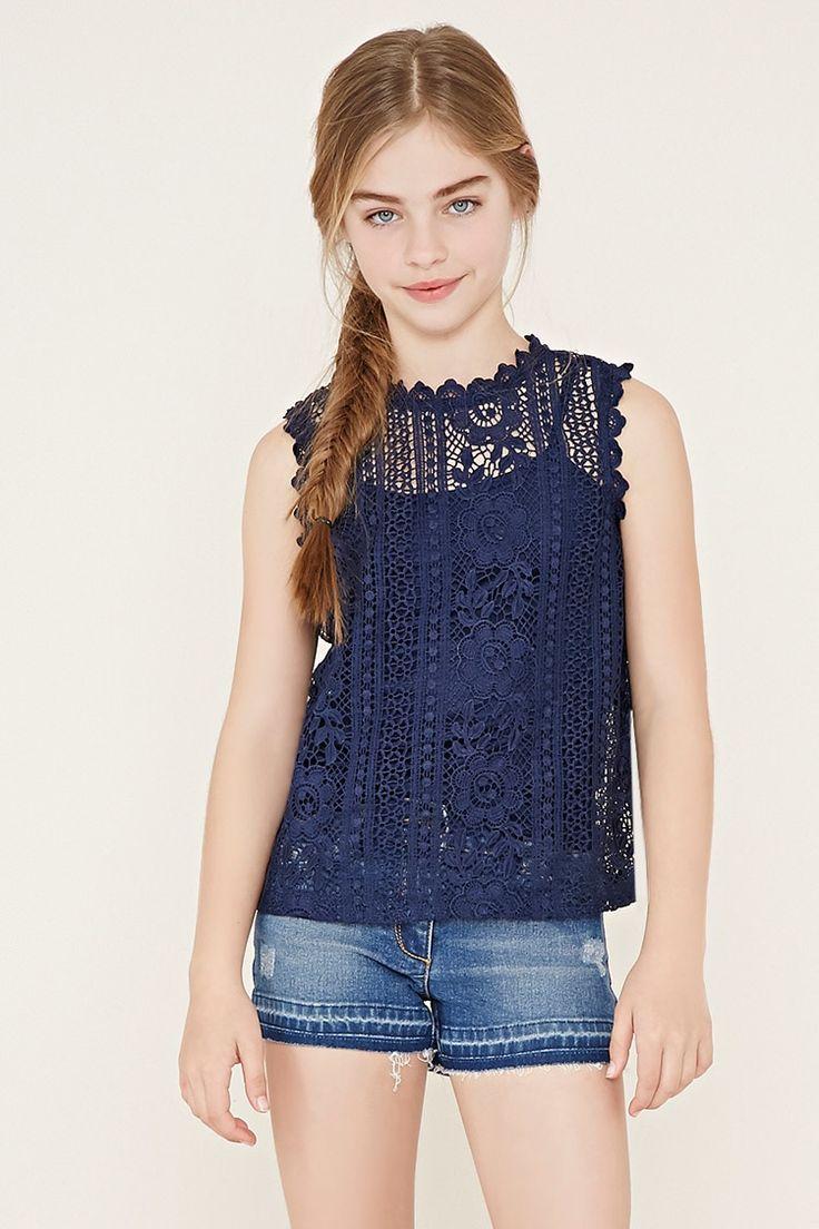 Blusa de crochet (niñas)
