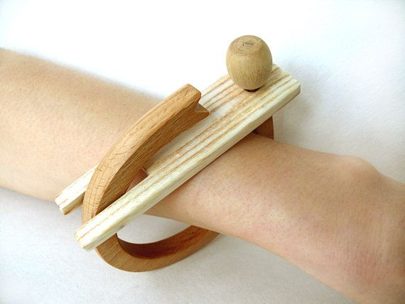 Bangles Design Bangle Wooden Bracelet Brown by coolNaturalJewelry, $46.00