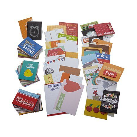 Inspired Inc. All-Occasion Title Card Scrapbooking Kit | HSN Clearance 150 pc $14