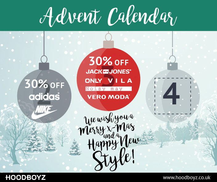 day 3 advent calendar 30 off on selected brands www hoodboyz co