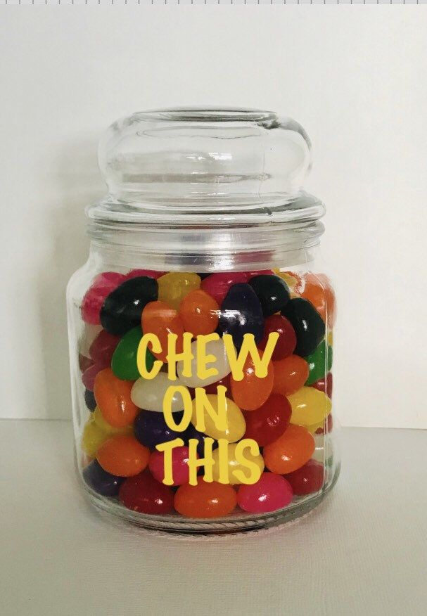 Chew On Glass.Chew On This Funny Glass Jar With Lid Great For Holding