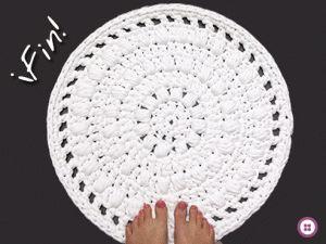 Patrones con trapillo: alfombra redonda