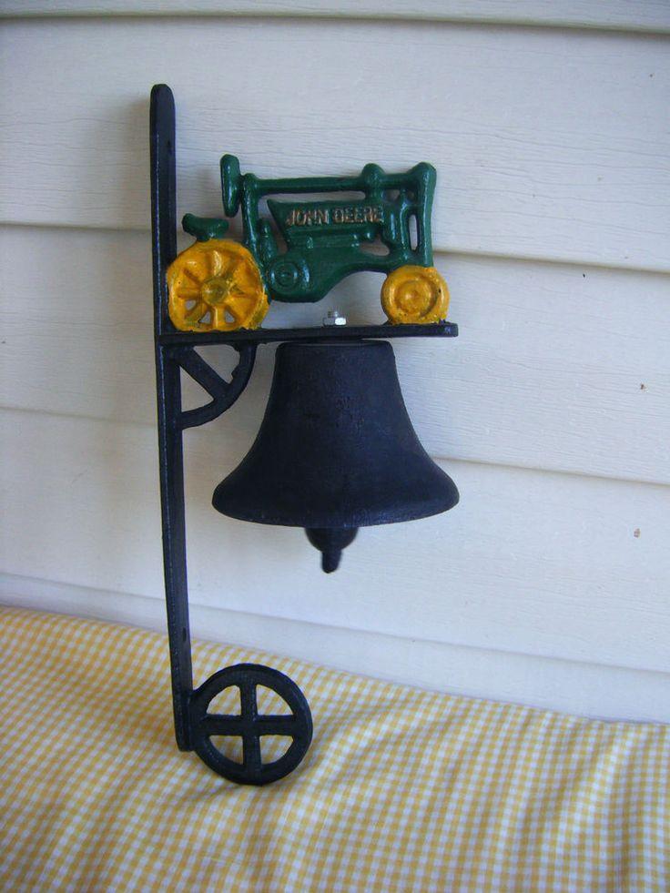 John Deere Cast Iron Dinner Bell Tractor Vintage Home