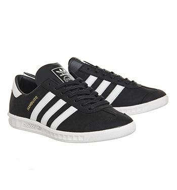 Adidas Hamburg Black Pearl Grey Gold Met - His trainers (SIZE 6)