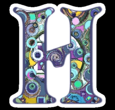 The letter h sticker by gretzky