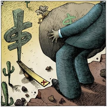 """""""Debt-Friendly Stimulus"""" by Robert J. Shiller  Read the full article here: http://www.project-syndicate.org/commentary/balanced-budgets-without-austerity-by-robert-j--shiller#  (Illustration by Paul Lachine)"""