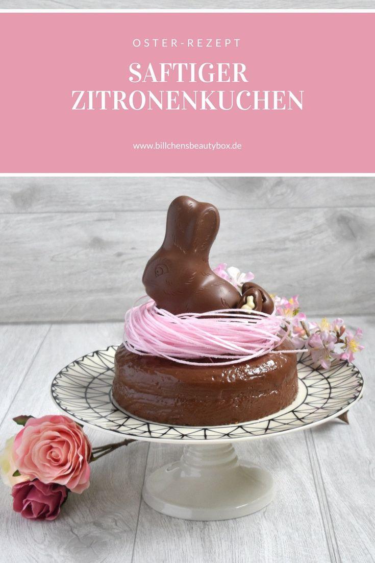 Mein Lieblingsrezept für saftig-lockeren Zitronenkuchen mit Osterdekoration  #ostern #backen #rezept #easter #osterhase