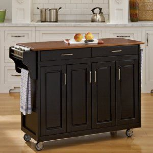 Portable Kitchen Islands And Carts On Hayneedle  Kitchen Island On Wheels