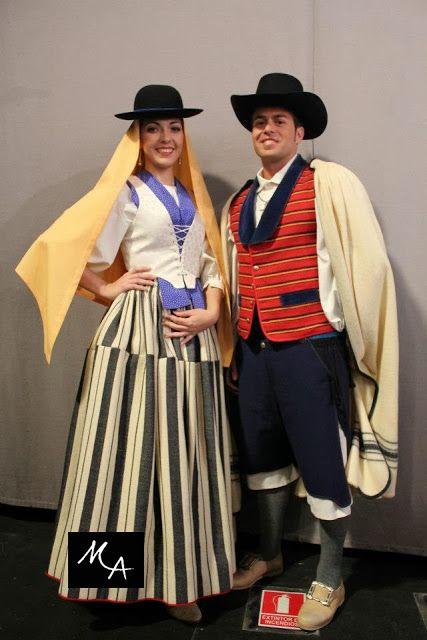 Mujer de Tejina y hombre de Tacoronte, Tenerife, recreación