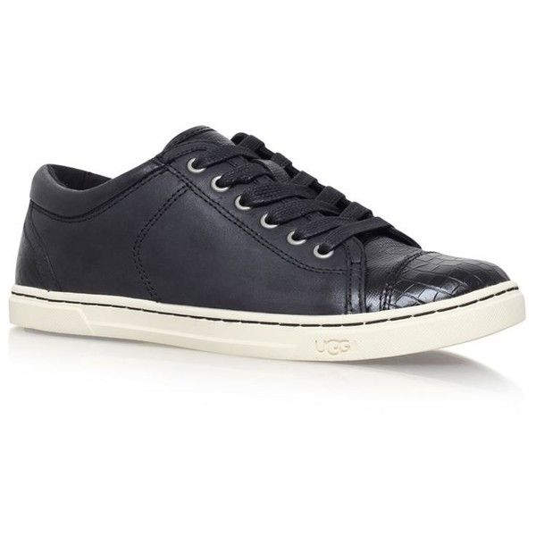 UGG Taya Croco Leather Sneakers (7.530 RUB) ❤ liked on Polyvore featuring shoes, sneakers, leather sneakers, ugg, leather low top sneakers, leather shoes and ugg footwear