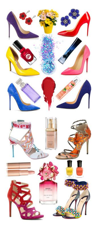 """""""💄💅🏻👠Multi-colours high heels 💄💅🏻👠"""" by jojoberryperry ❤ liked on Polyvore featuring Jimmy Choo, Christian Louboutin, INC International Concepts, In Your Dreams, Giorgio Armani, Calvin Klein, Bottega Veneta, Sophia Webster, Marc Jacobs and Elizabeth Arden"""