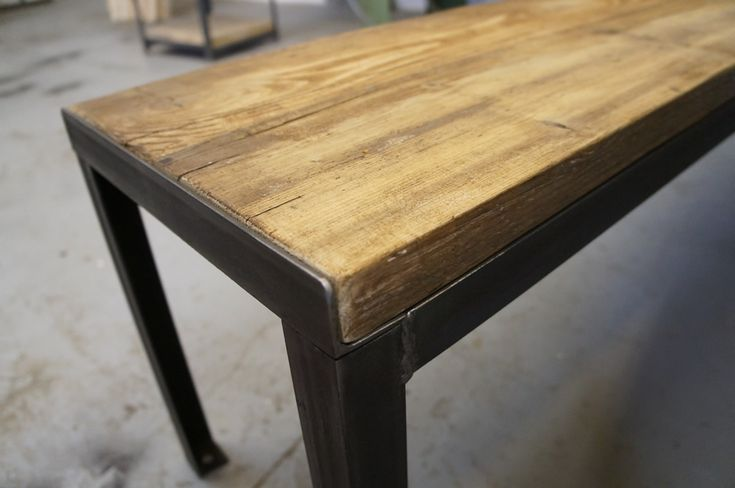 Refectory Table and Bench Set - Vintage Industrial Furniture