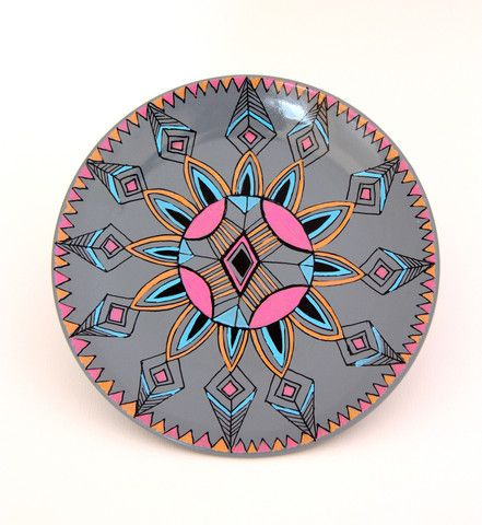 Cloud Nine Creative - Aztec Flower Plate 19cm