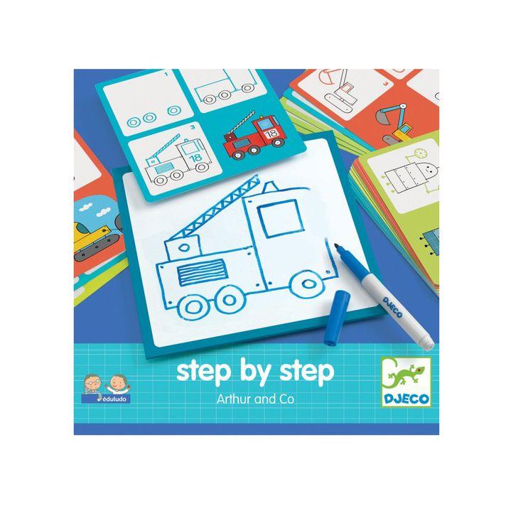 Lépésről lépésre - rajzolni tanulok- Arthur and Co (Djeco Step by Step) | Pandatanoda.hu Játék webáruház