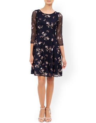 Lizzie Dress | Navy | Monsoon